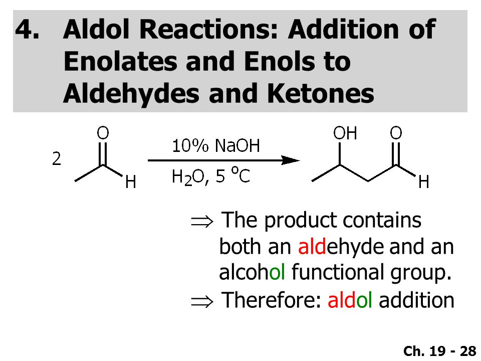 reactions of carbonyls aldehyde ketone analysis Chapter 17: aldehydes and ketones: nucleophilic addition the aldehyde or ketone, the other the ylide r3 cc r2 r1 4 spectroscopic analysis of aldehydes and.