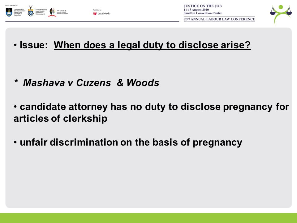 duty to disclose information What is a doctor's duty to disclose doctors are required by law to disclose all relevant information to patients regarding medical treatment or medical procedure a patient must give.