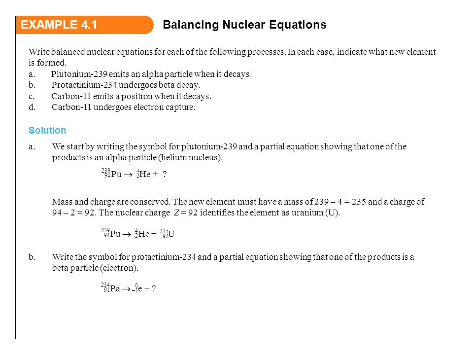 Balancing Nuclear Equations Ppt Video Online Download