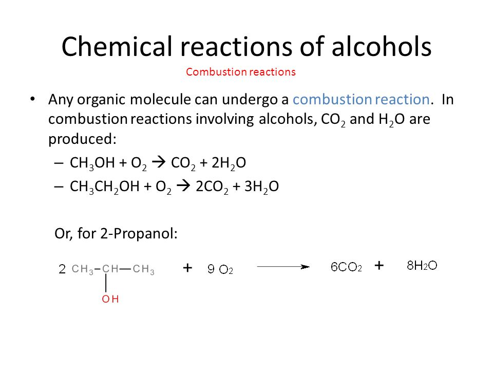 chemistry coursework combustion of alcohols One of the evidence for this hypothesis comes from the ib chemistry data booklet  the standard enthalpy change of combustion for methanol,.