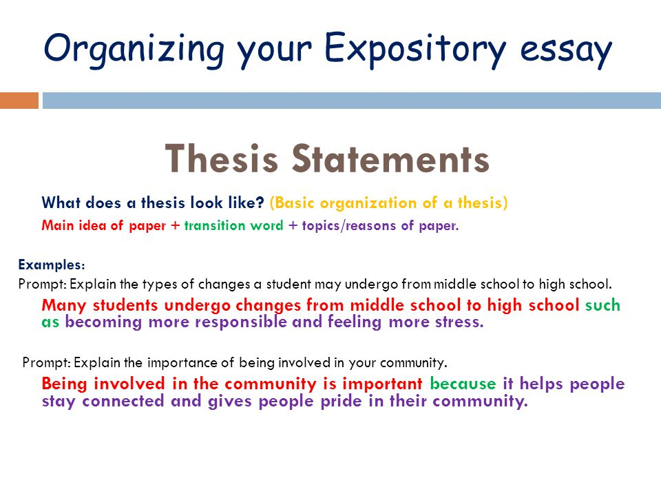 how do you write a thesis statement for an expository essay Argument, your writing style you will organize your essay title of work(s) you will discuss, thesis statement any.