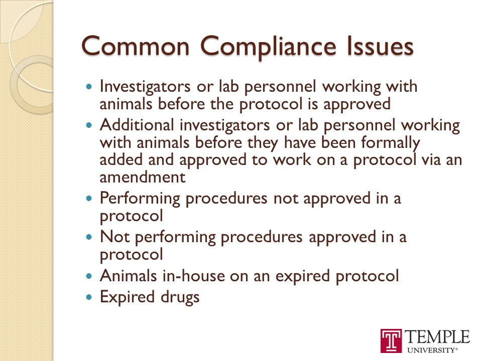 Common Compliance Issues