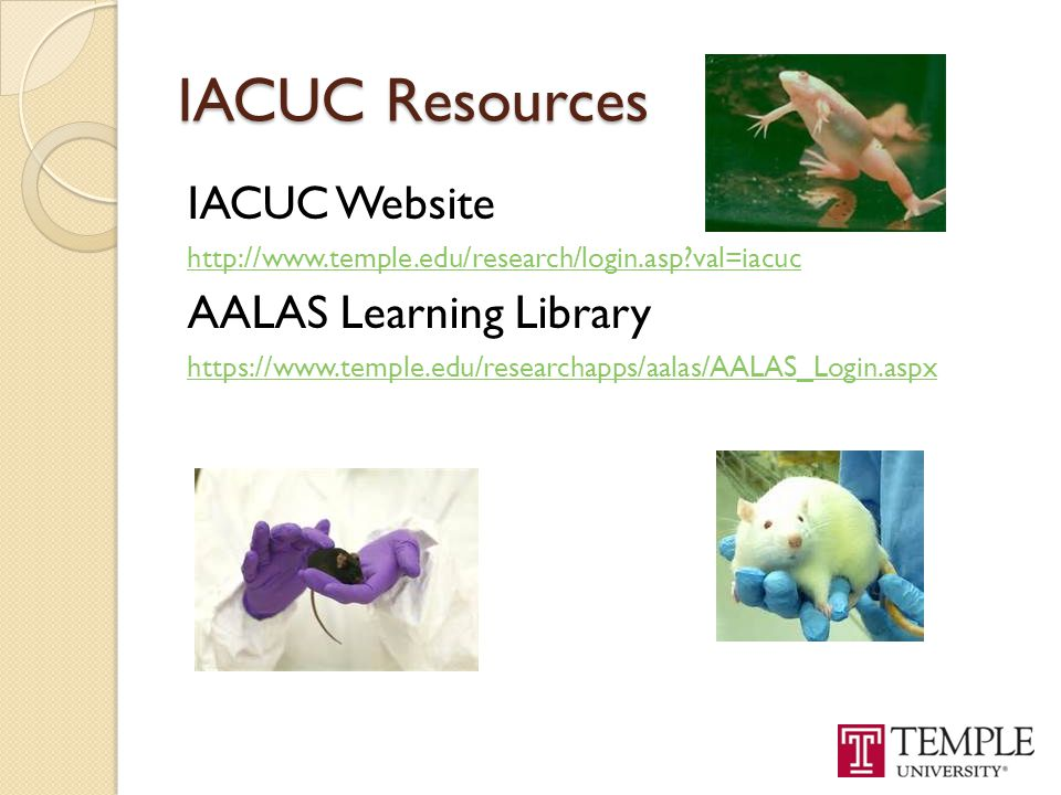 IACUC Resources IACUC Website AALAS Learning Library