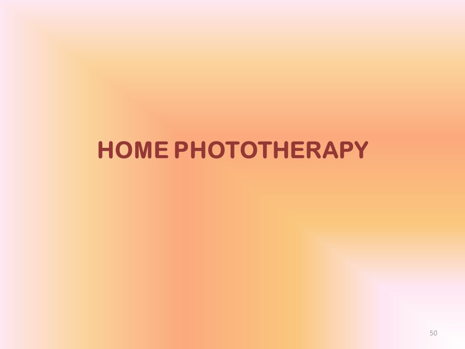 Home phototherapy for jaundice