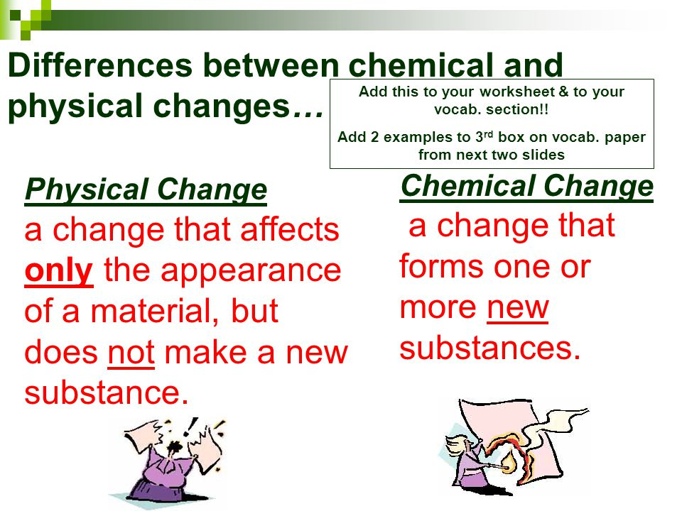 distinctions between physical and chemical properties Answers physical and chemical properties the purpose of this experiment is to clarify these important distinctions to observe the physical and.