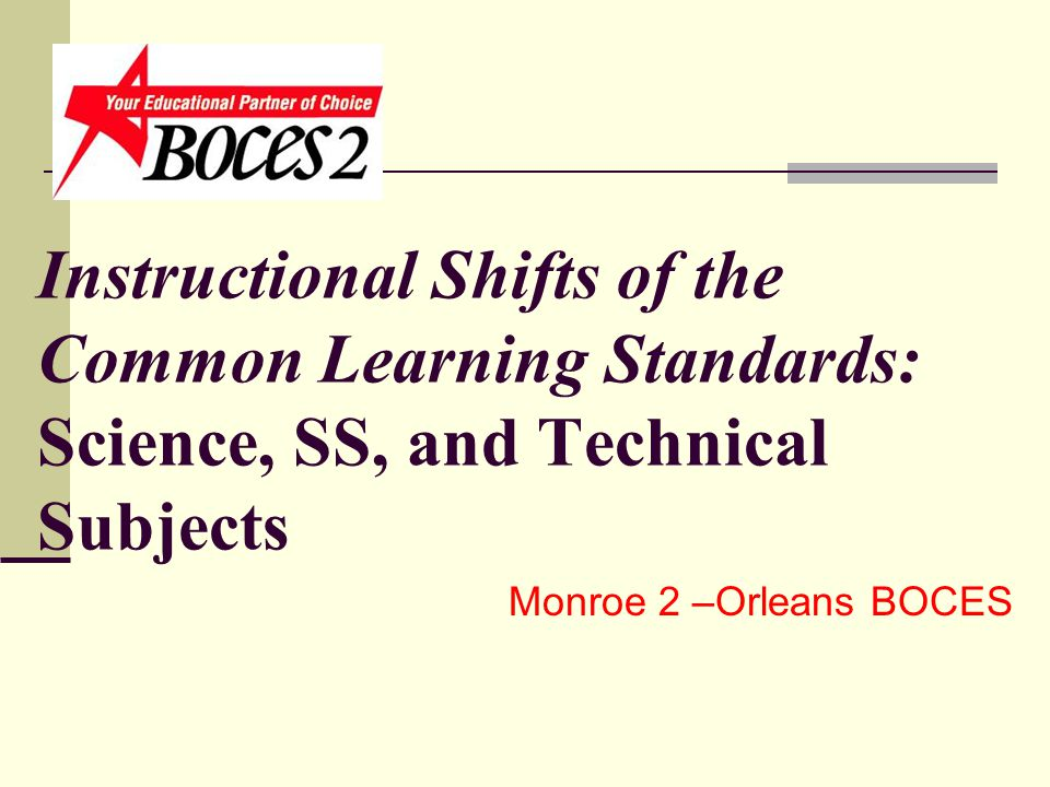 Instructional Shifts Of The Common Learning Standards Science Ss