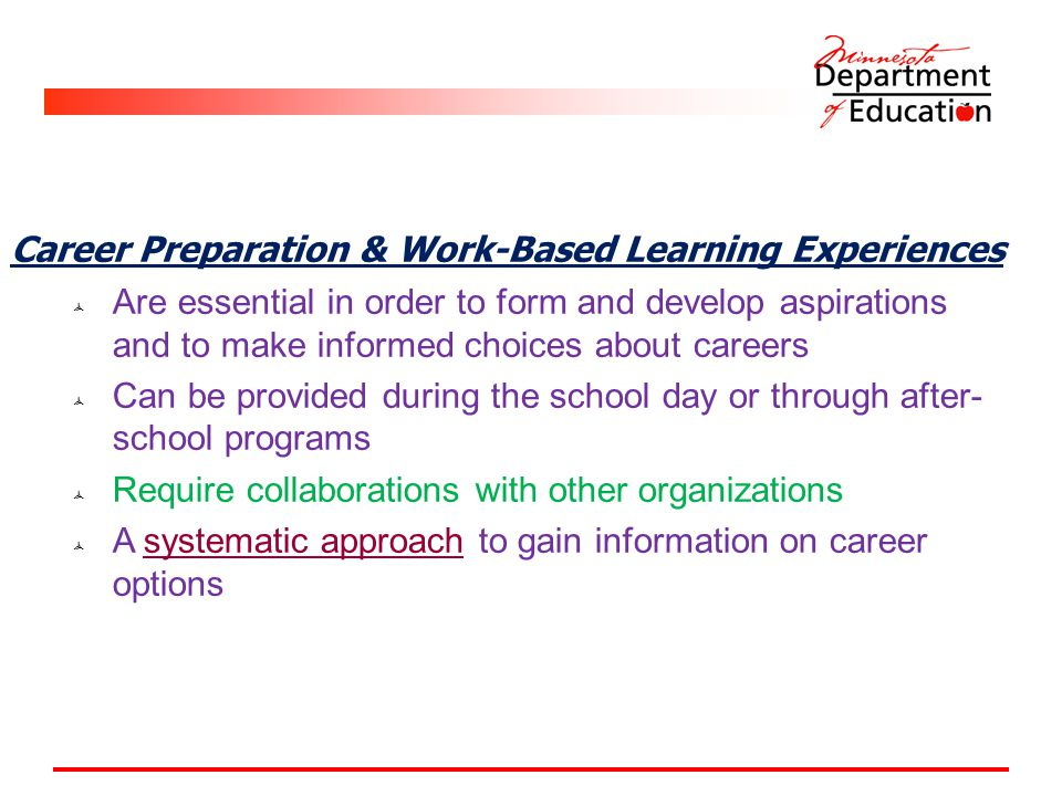 Career Preparation & Work-Based Learning Experiences