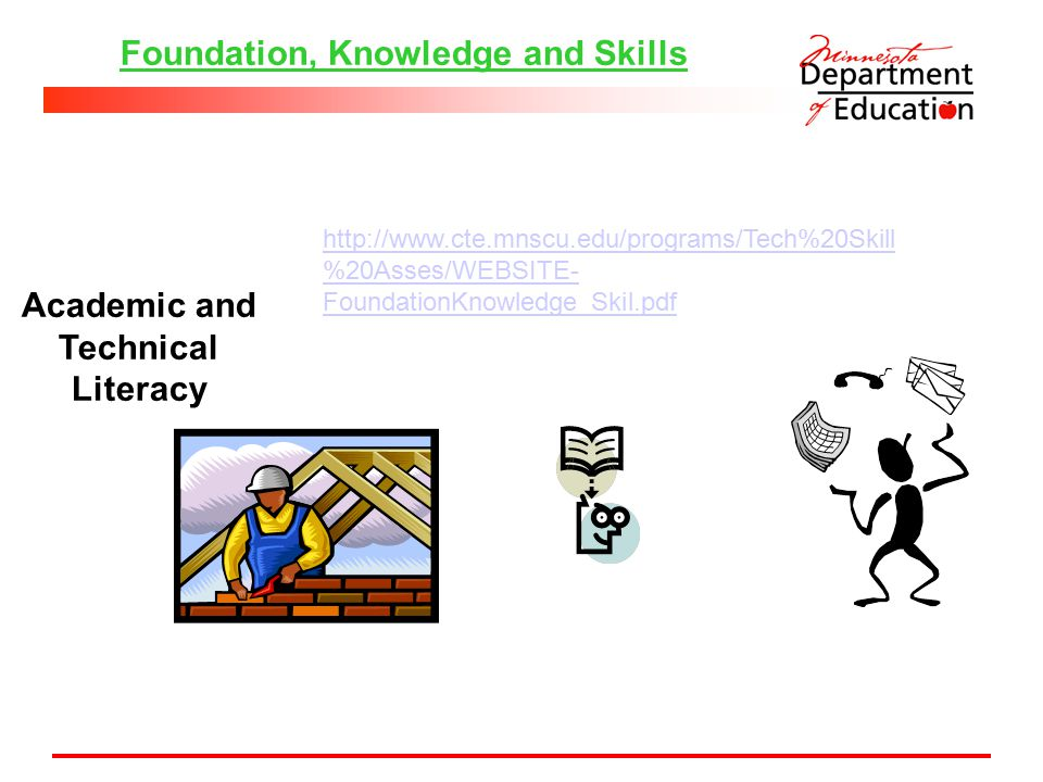 Foundation, Knowledge and Skills Academic and Technical Literacy