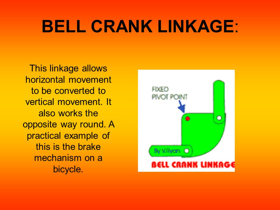 Bell Crank Linkage : Introduction to types of motion linkages ppt video