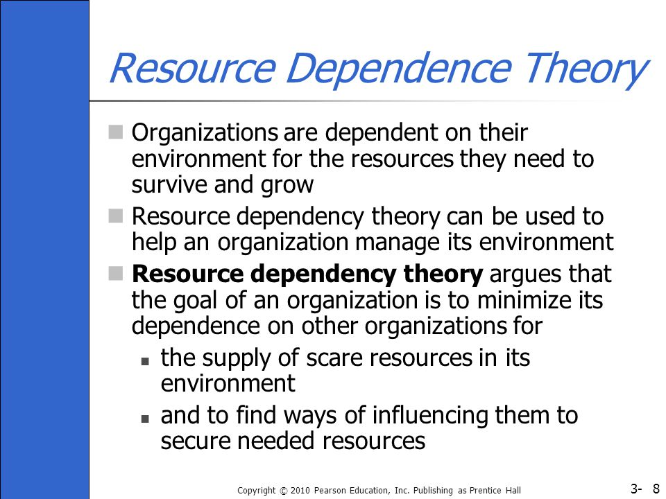 What is Resource Dependence Theory (RDT)?