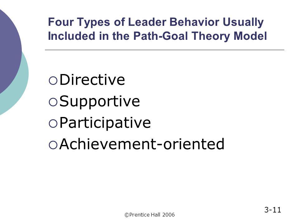 Path-Goal Leadership Theory