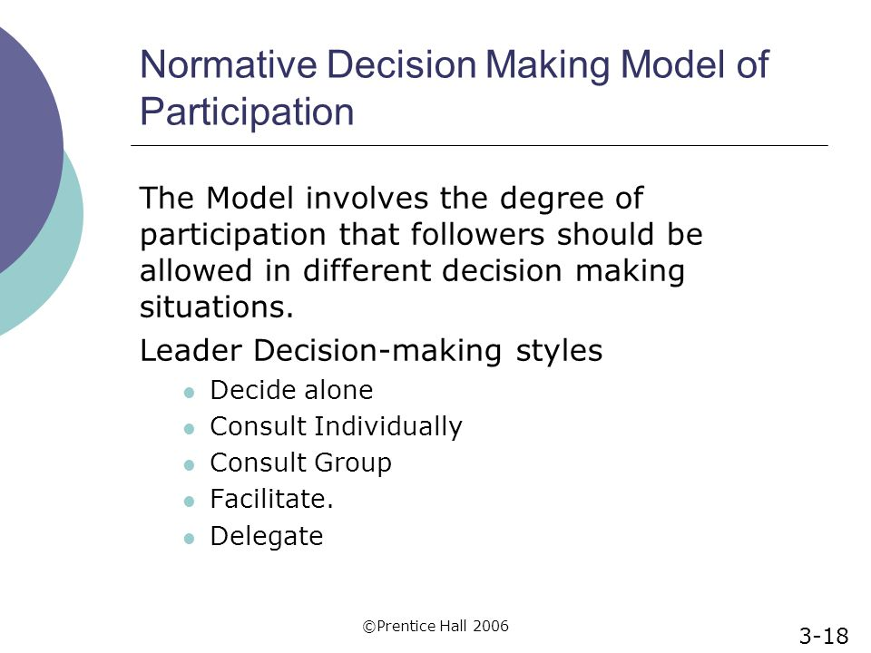 an analysis of different decision making models By judith stein a decision-making model describes the method a team will use to make decisions the most important factor in successful decision-making is that every team member is clear about how a particular decision will be made.