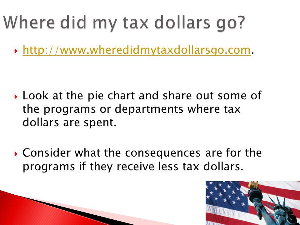 Where did my tax dollars go