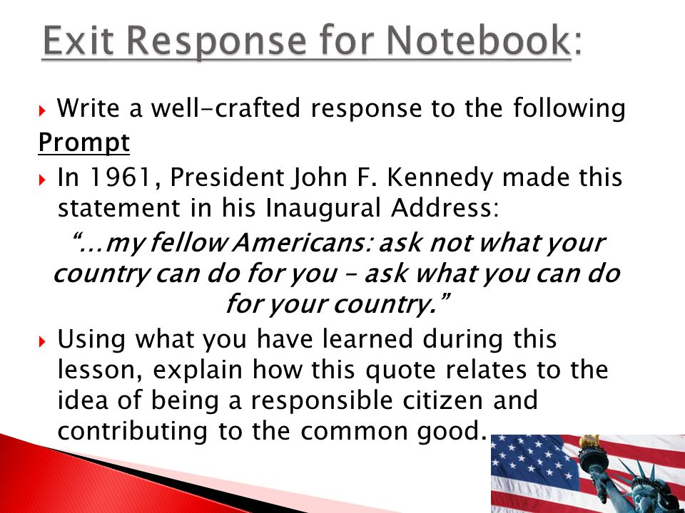 Exit Response for Notebook: