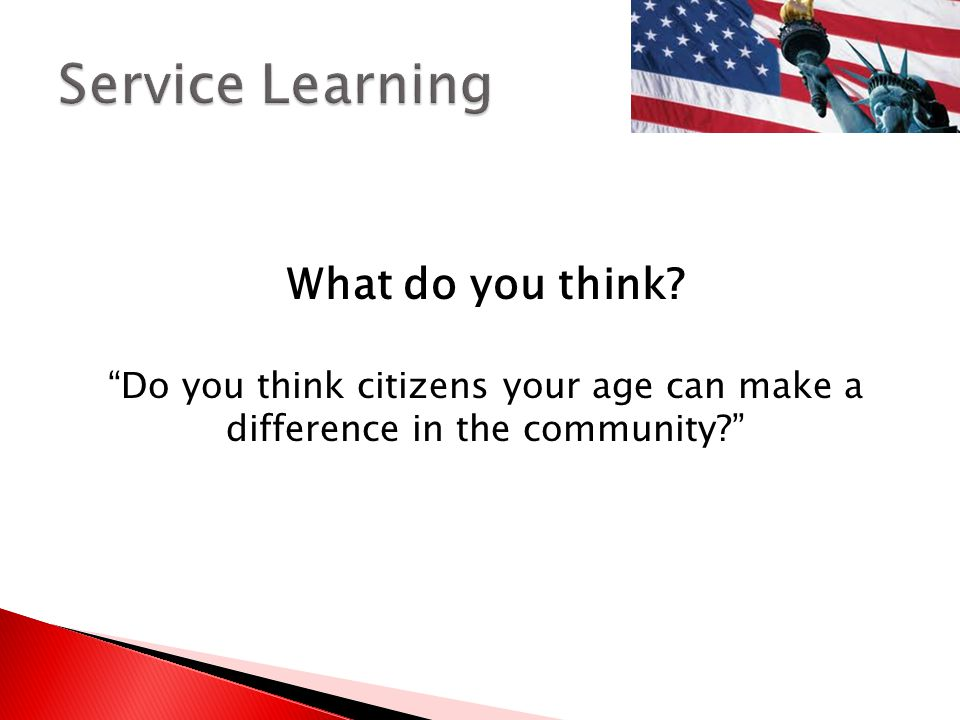 Service Learning What do you think