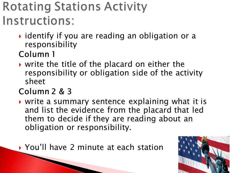 Rotating Stations Activity Instructions: