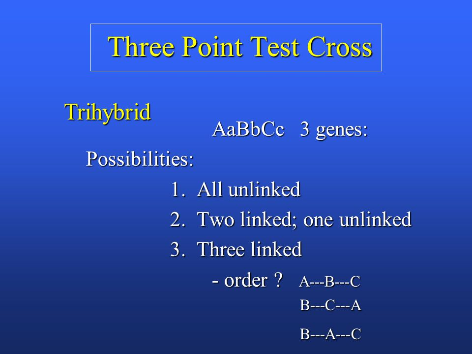 how to determine gene order three point cross