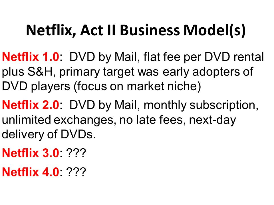 netflix's business model and strategy in Can netflix's business model  with our content strategy paying  the viability of the business and concluded that netflix's current stock market valuation.