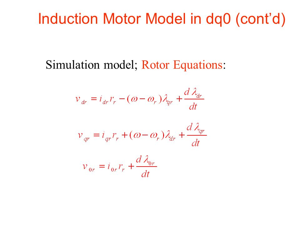 Induction Motor Equation 28 Images Energy Conversion