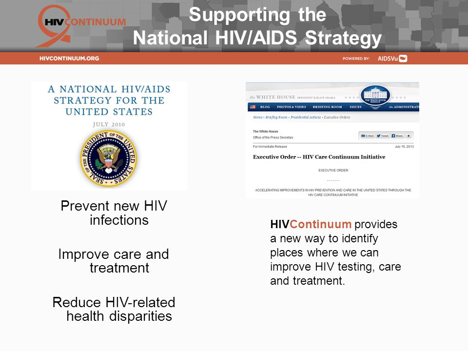Supporting the National HIV/AIDS Strategy