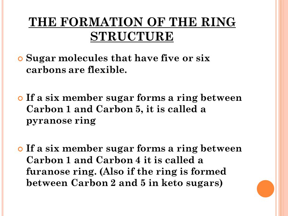 THE FORMATION OF THE RING STRUCTURE