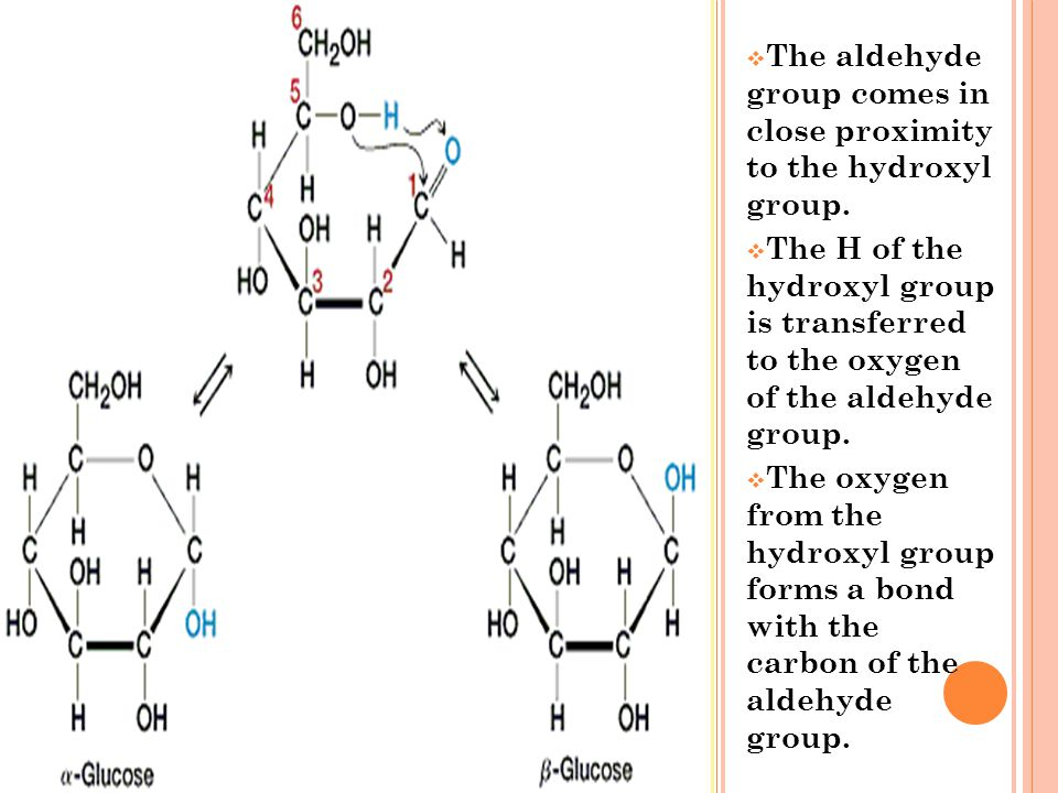 The aldehyde group comes in close proximity to the hydroxyl group.