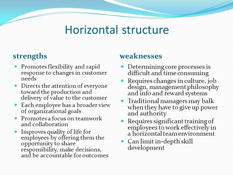 The Strengths and Weaknesses of an Organizational Structure