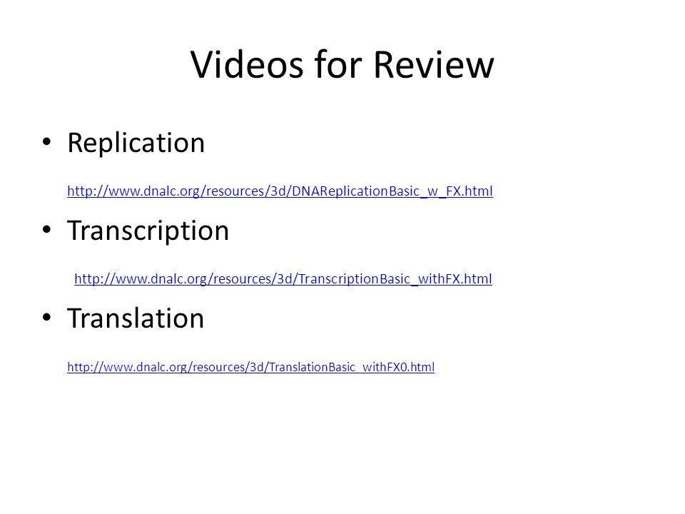 Videos for Review Replication