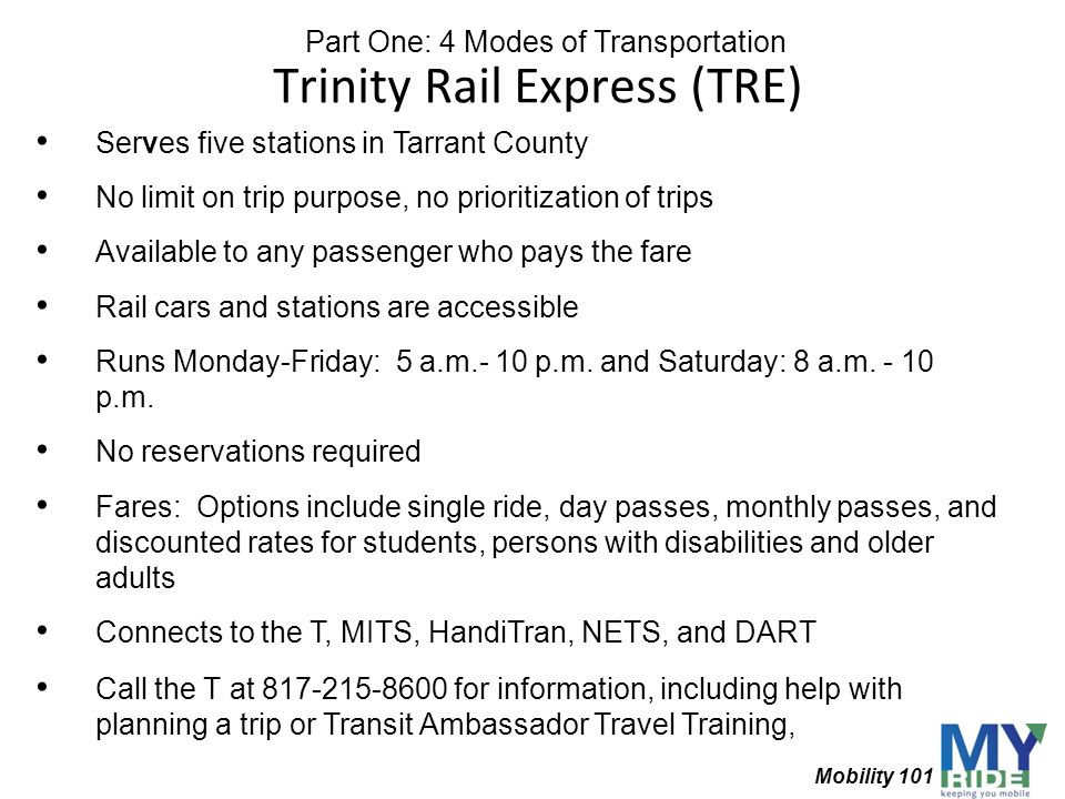 Trinity Rail Express (TRE)