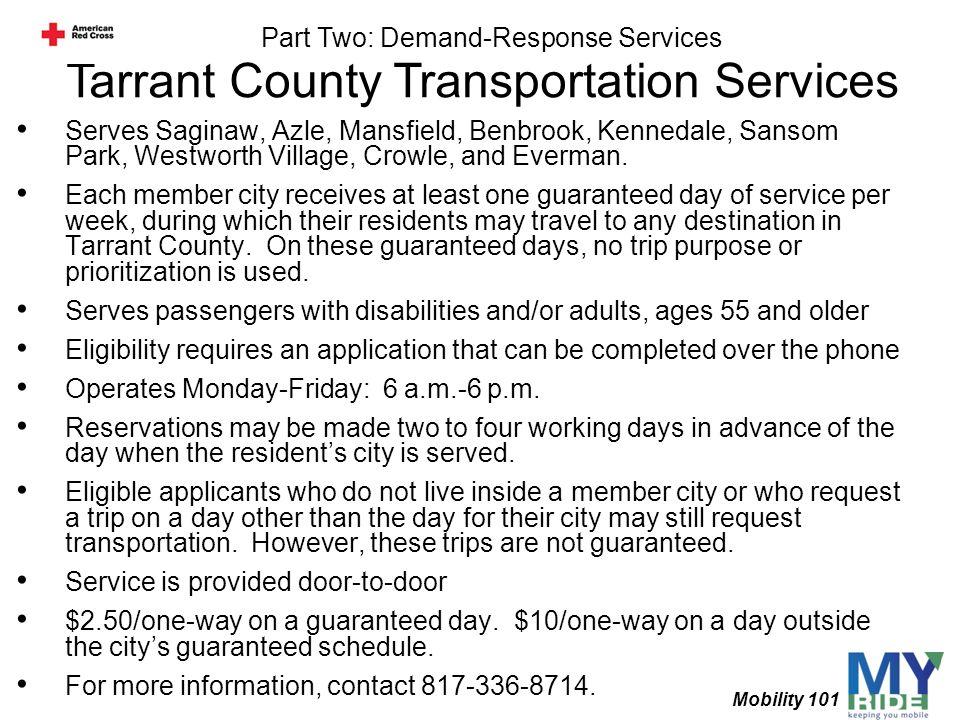 Tarrant County Transportation Services