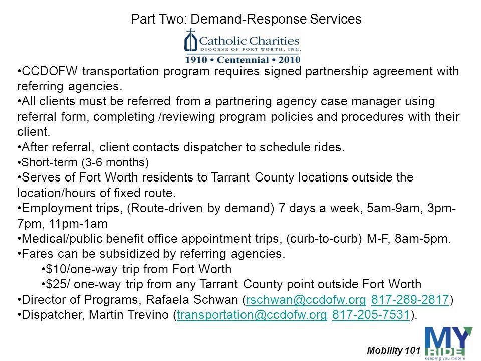 Part Two: Demand-Response Services
