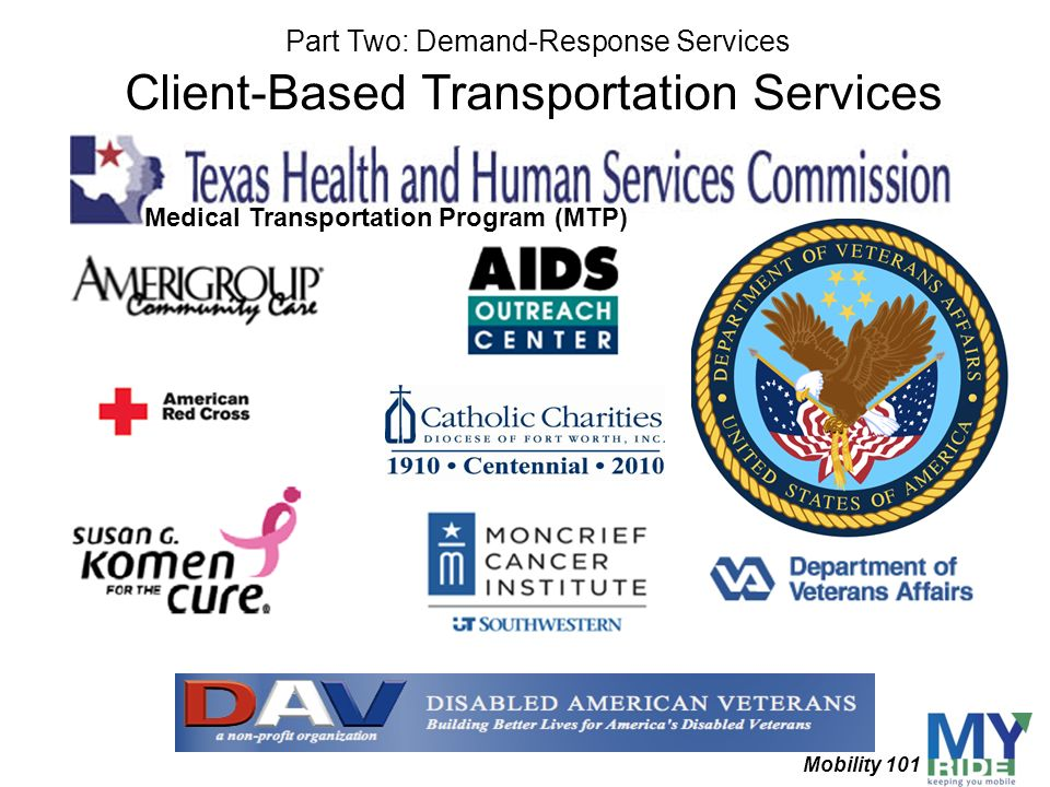 Client-Based Transportation Services