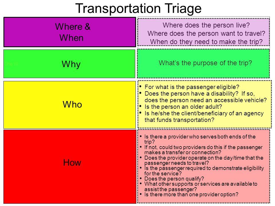 Transportation Triage