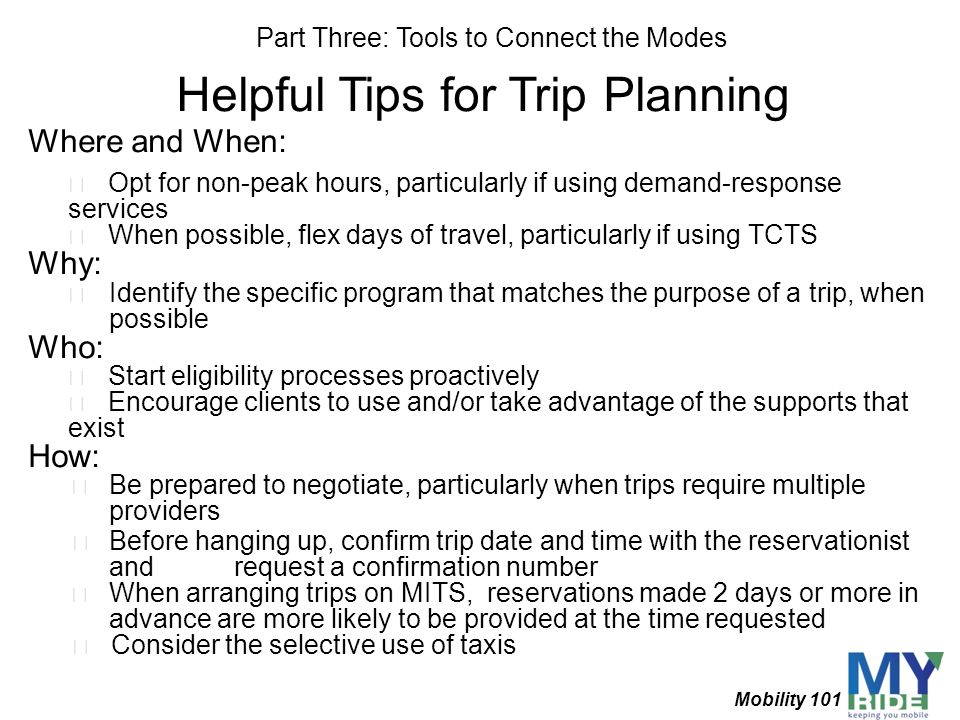 Helpful Tips for Trip Planning