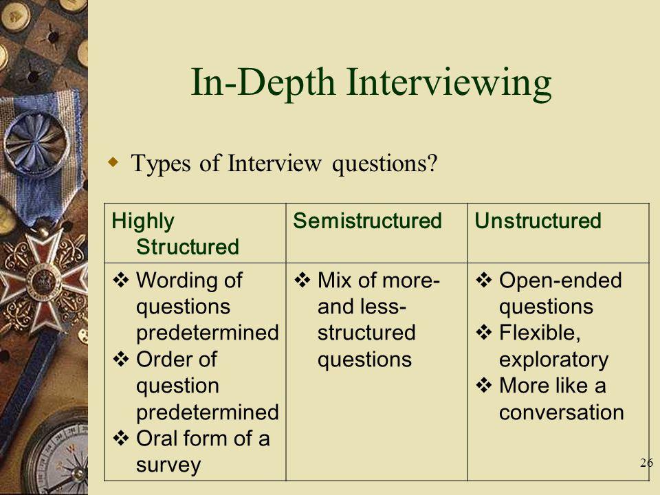 indepth interviewing