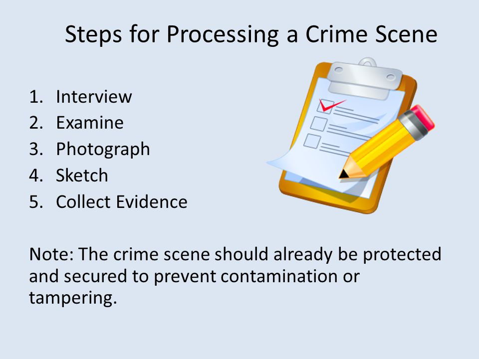 Steps for Processing a Crime Scene