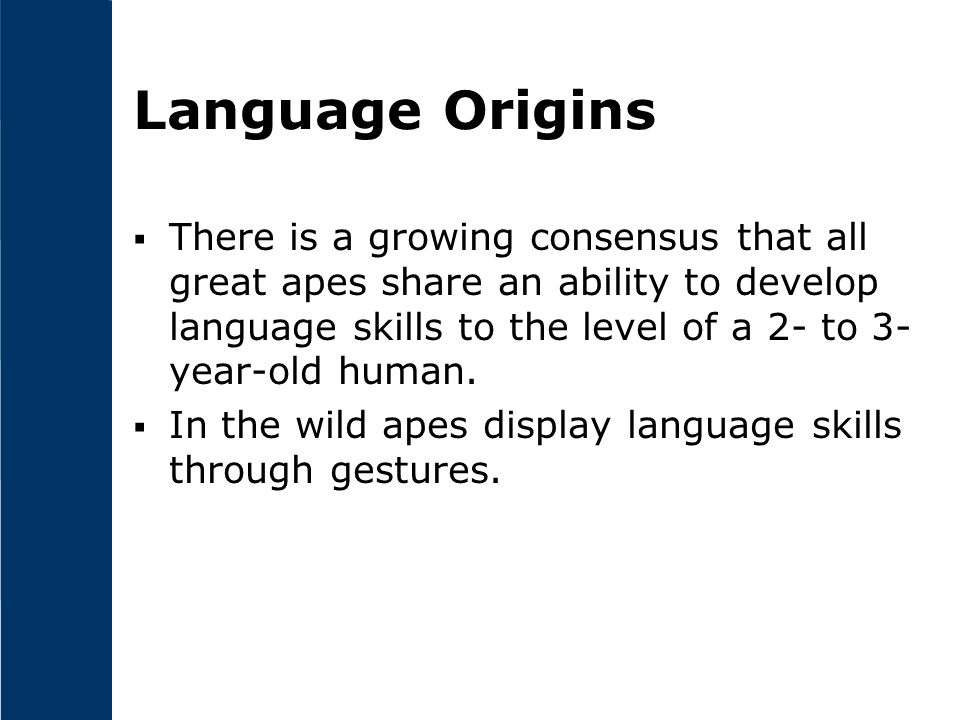 Language Origins