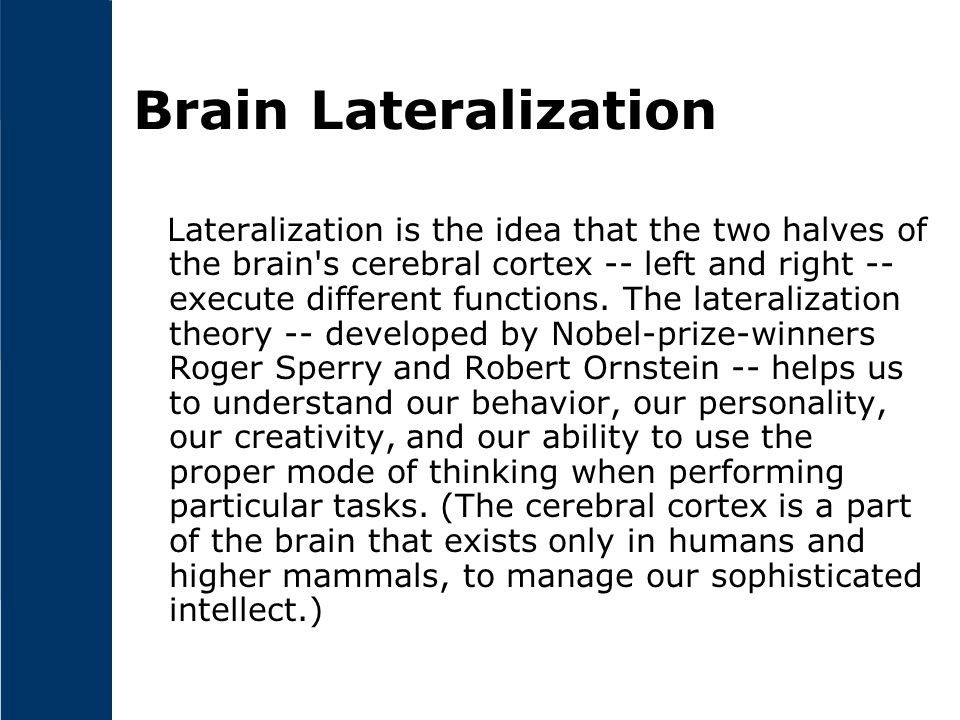 Brain Lateralization