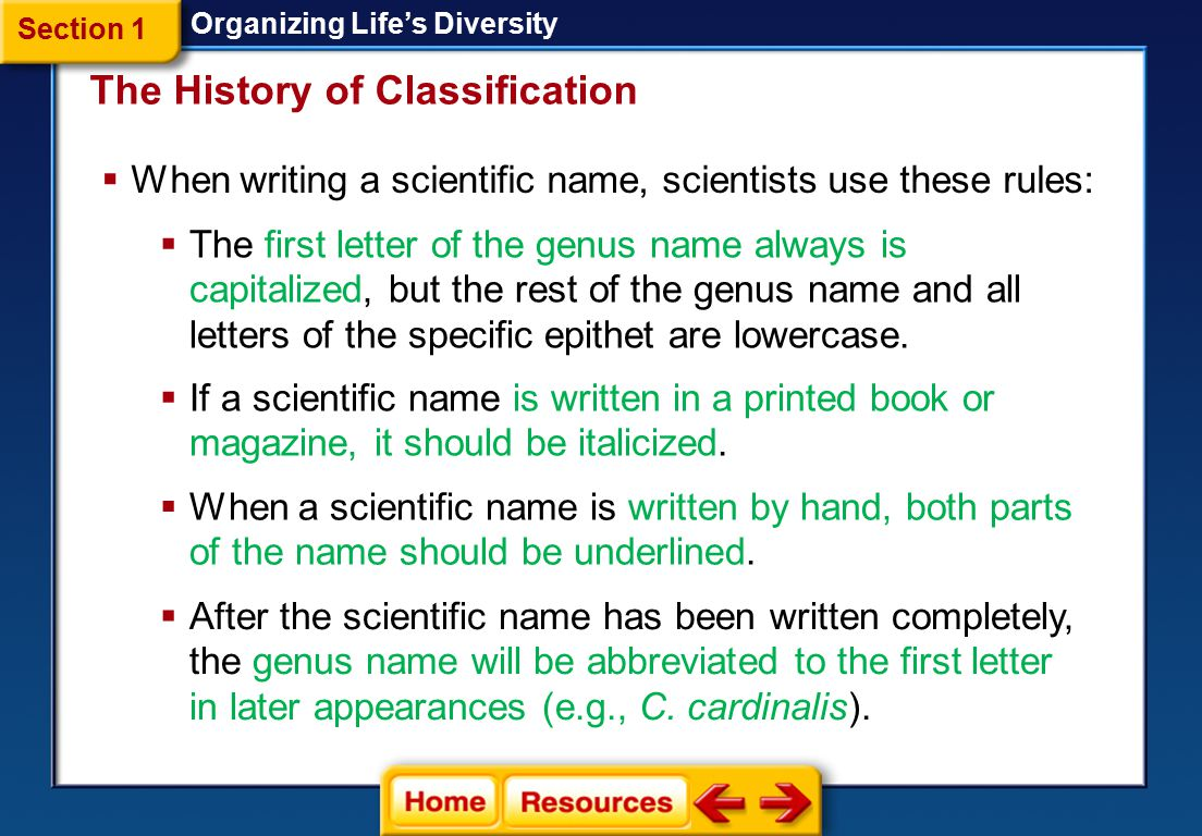 The History of Classification