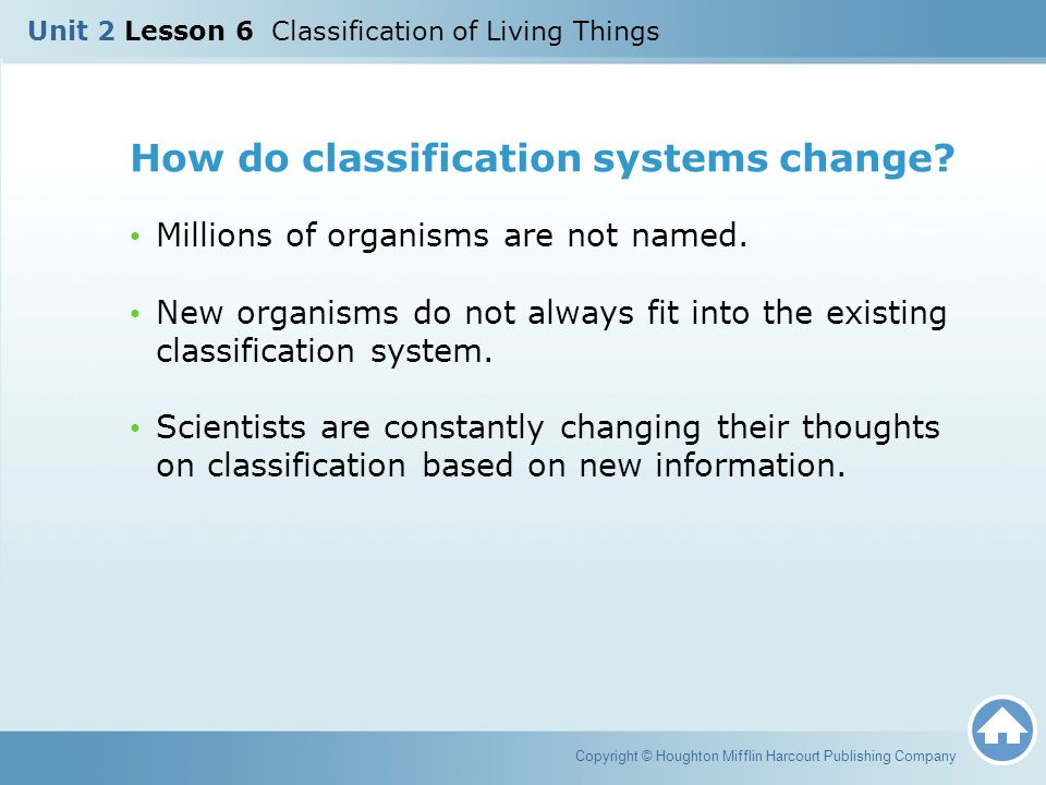 How do classification systems change