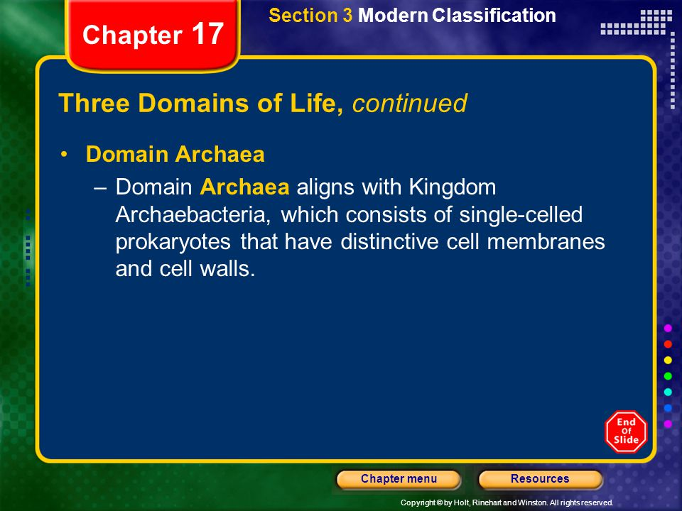 Three Domains of Life, continued