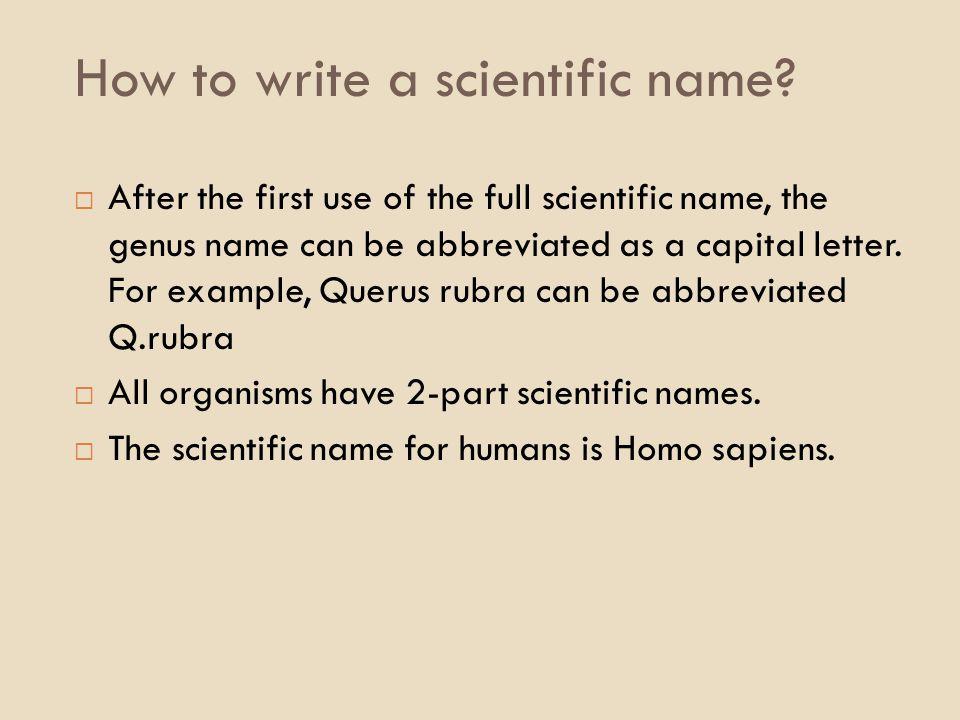 How to write genus