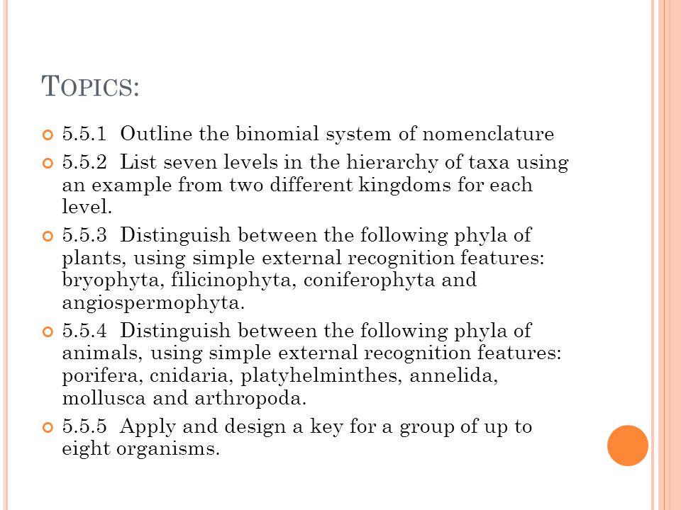 ib biology topic classification ppt video online 2 topics