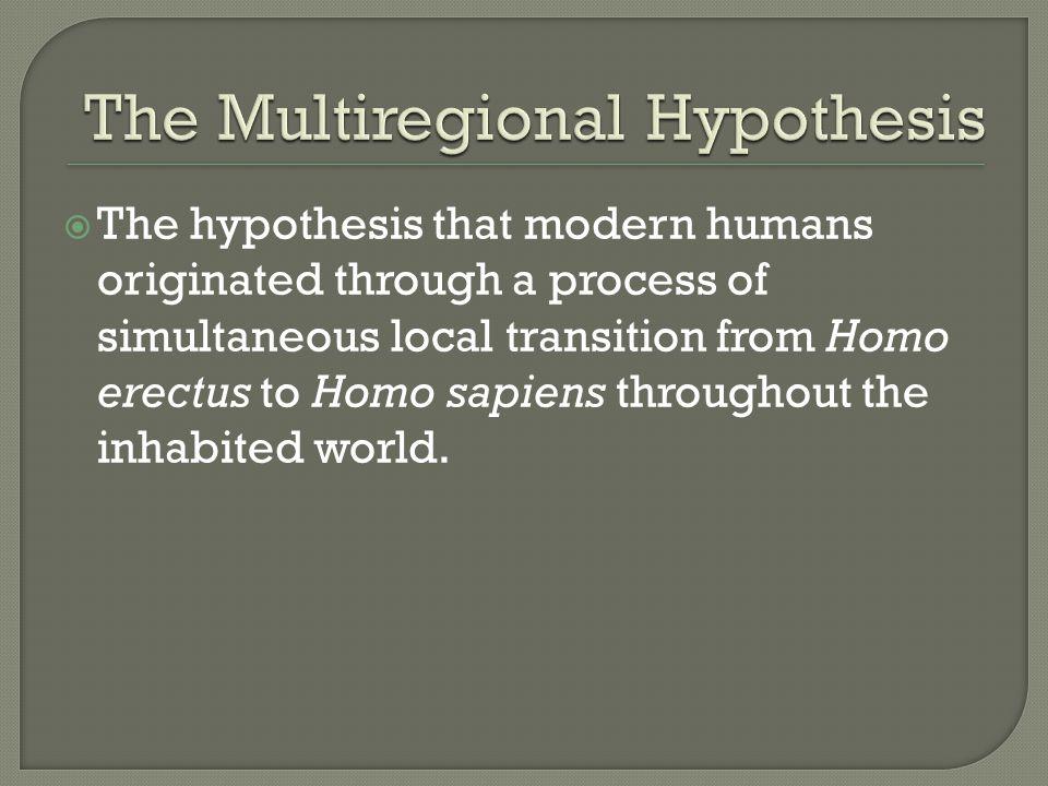 The Multiregional Hypothesis