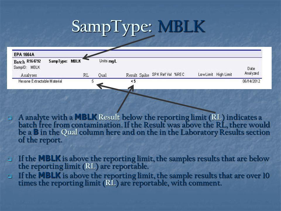 SampType: MBLK
