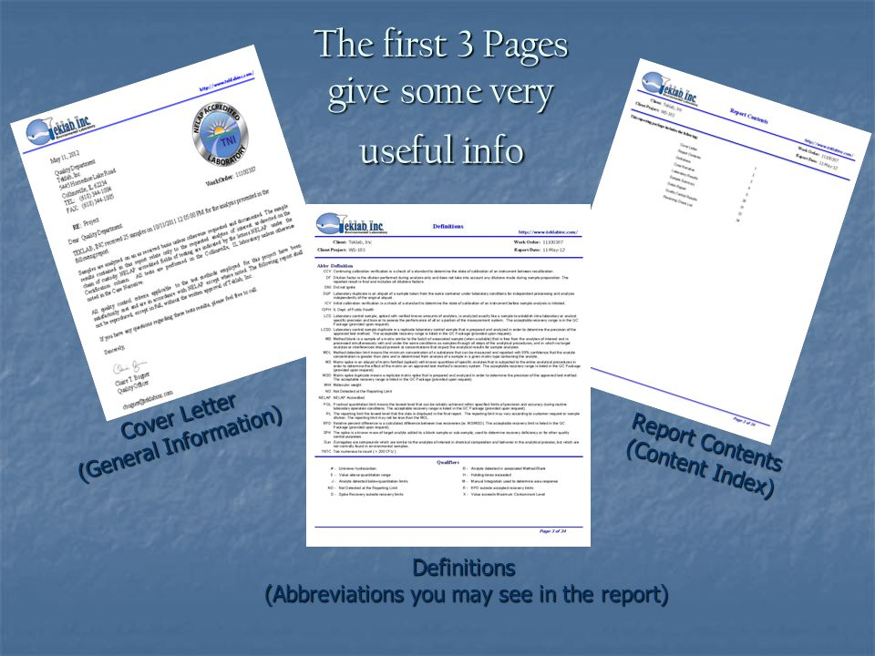 The first 3 Pages give some very useful info