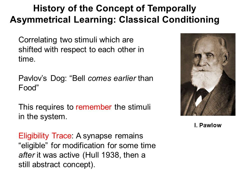 the history and development of classical conditioning Classical conditioning can be used for taste-aversion learning, a biological innate part of us that tells an organism to avoid food when it is related to illness.