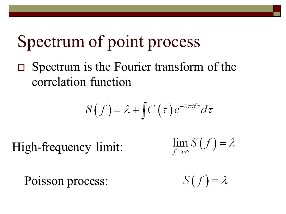 Spectrum of point process