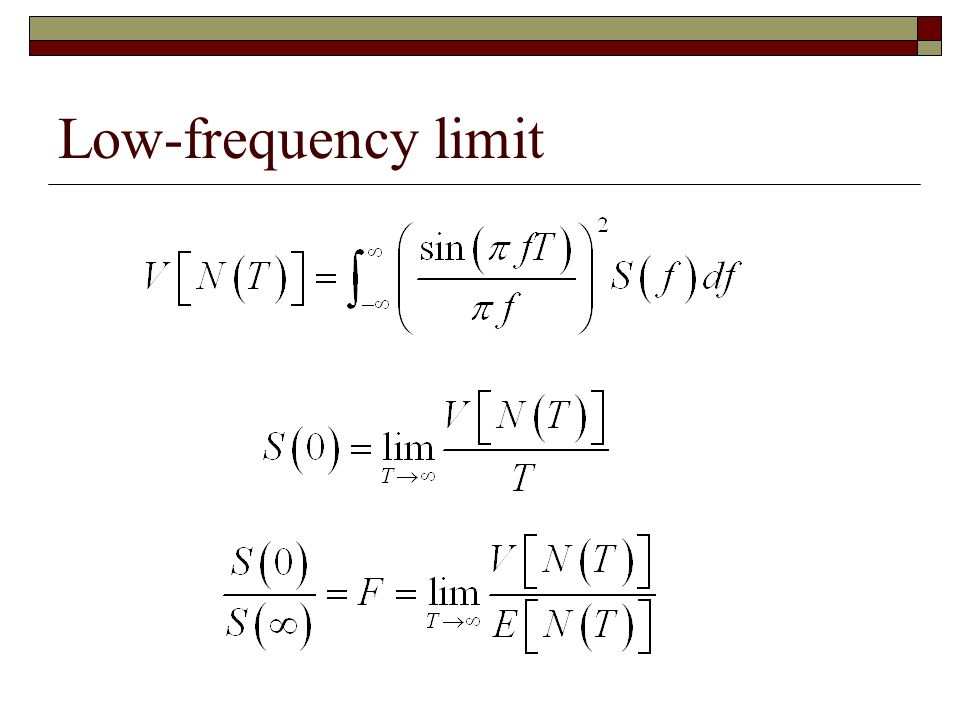 Low-frequency limit