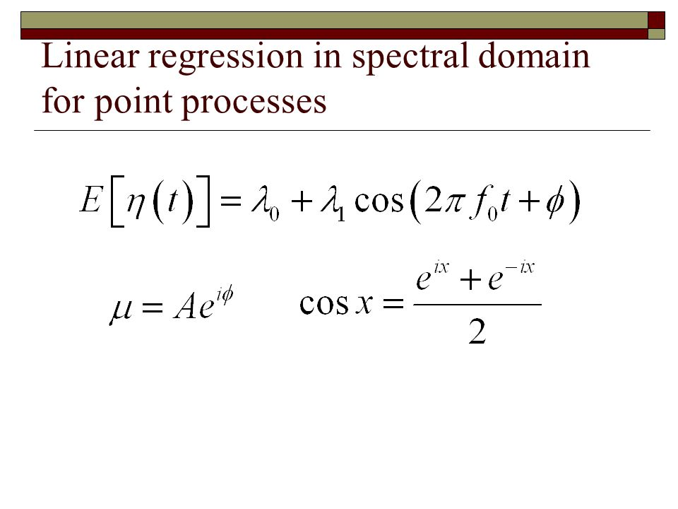Linear regression in spectral domain for point processes